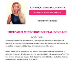 Free Your Mind from Bondage
